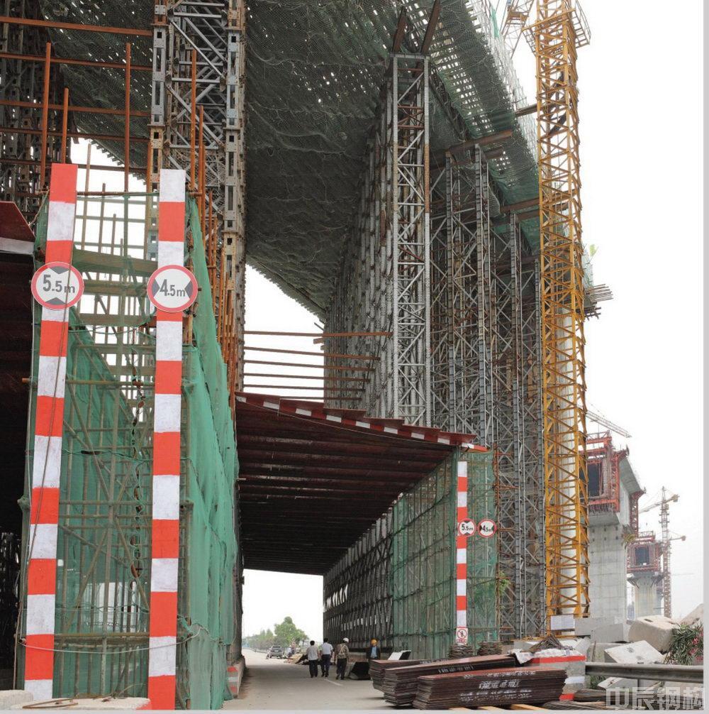 广州番禺城际轻轨桥梁施工钢结构支架工程
