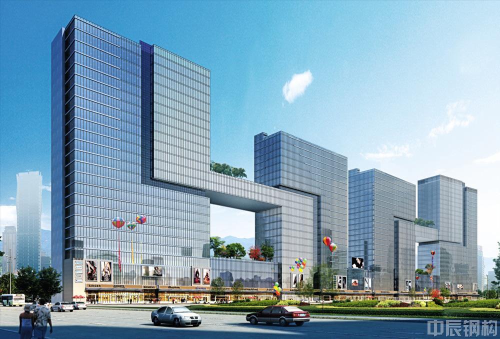 美的集团贵阳项目办公大楼钢结构工程
